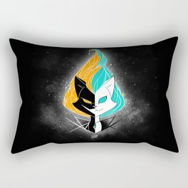 Nightmare/ScribbleNetty (Orange/Turquoise) Rectangular Pillow