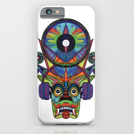 Sri Lanka Devil Mask  (Yaka Mask, raksha mask, Music EDM)  iPhone Case