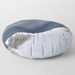 Winter Beach Shrubs Floor Pillow