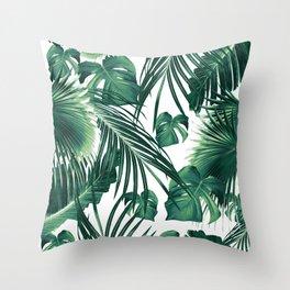 Tropical Jungle Leaves Dream #3 #tropical #decor #art #society6 Throw Pillow