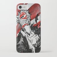 bleach iPhone & iPod Cases featuring Bleach - Hollow Mask by RISE Arts