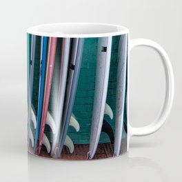 Surfboards at the Surf Shop Coffee Mug