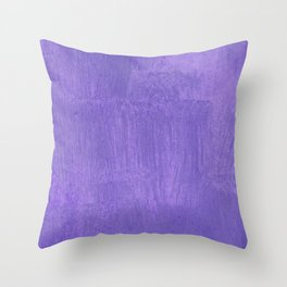 Violet Painted Wall Texture Throw Pillow