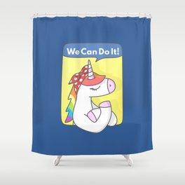 Unicorn Girl Power Shower Curtain