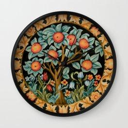 """William Morris """"Orange tree"""" Wall Clock"""