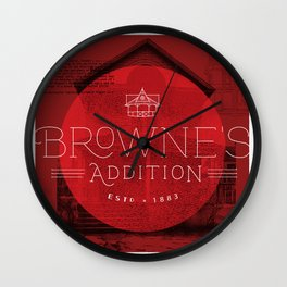 Browne's Addition Wall Clock