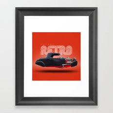 Future Retro - Hotrod Framed Art Print