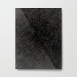 Black Silk Rippled Moiré Pattern Metal Print