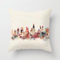 ohio Throw Pillows featuring columbus ohio by bri.buckley