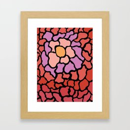 abstract shades of red and pink Framed Art Print