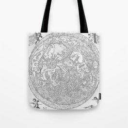 Hevelius' Selenographia - Map of the Moon 1647 Tote Bag