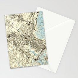 Vintage Map of Elizabeth NJ (1947) Stationery Cards