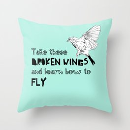 Learn how to fly Throw Pillow