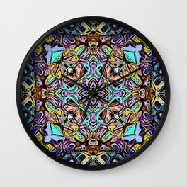 Abstract Stained Glass Wall Clock