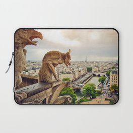 Gargoyles in Paris, France, Basilica of Notre Dame Laptop Sleeve