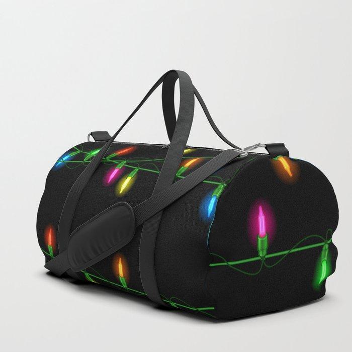 Christmas lights collection Duffle Bag