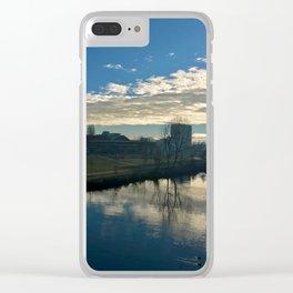 blue Ihme Clear iPhone Case