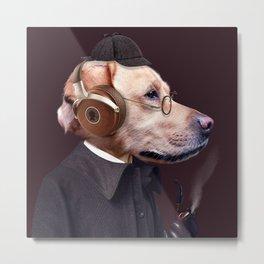Dog Sherlock Holmes Metal Print