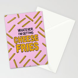 Cheese Fries Stationery Cards