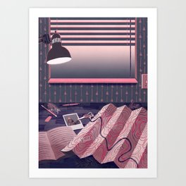 Quiet Desk Art Print