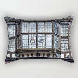 Bay Window at the Tower of London England Rectangular Pillow