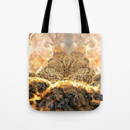 Coral Above the Sun Tote Bag