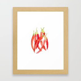 Watercolor Chilies Framed Art Print