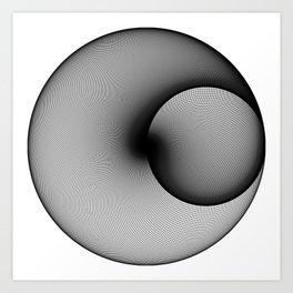 Shady Circles Art Print