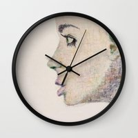 rush Wall Clocks featuring Rush by Paige Elizabeth