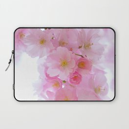 Botanical blush pink white cherry blossom floral Laptop Sleeve