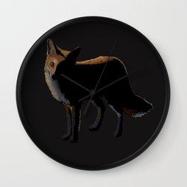 Fox in the Night Wall Clock