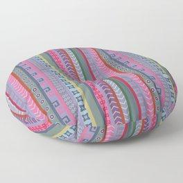 Ethnic Peruvian Striped Pattern Floor Pillow