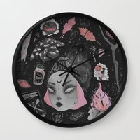 stickers Wall Clocks featuring Magical ϟ Autumn by lOll3
