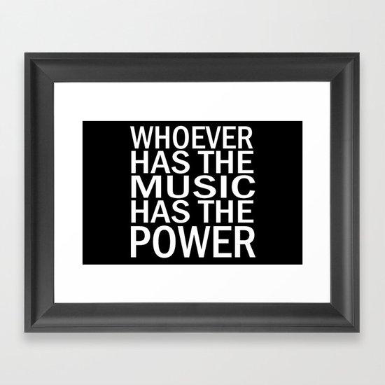 The Power of Music Framed Art Print