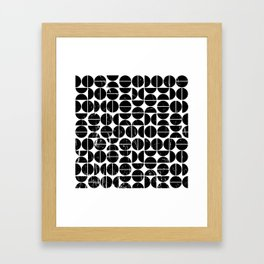 Half Moon Pattern | 70s Style | Fun | Happy Art Framed Art Print
