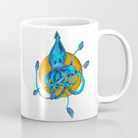 squid Mugs featuring Squid by Ruth Wels