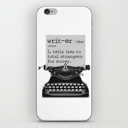 Writer Defined iPhone Skin