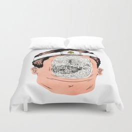 Journey to the center of the earth Duvet Cover