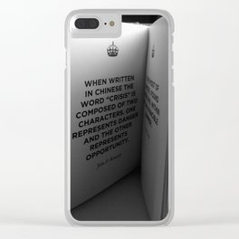 Crisis Clear iPhone Case
