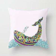 Whale Tune Throw Pillow