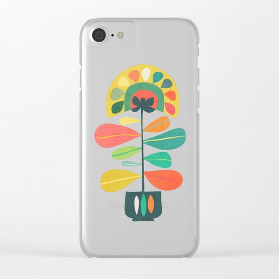 Fan Flower Clear iPhone Case