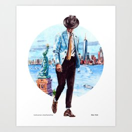 The New York Man Art Print