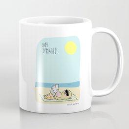 Mochi the pug sunbathing Coffee Mug
