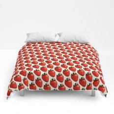Strawberry Pattern - White Comforters