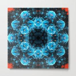 Deep Sea Mandala Metal Print