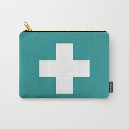 Swiss Cross Turquoise Carry-All Pouch