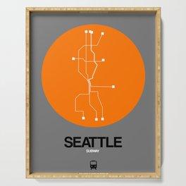 Seattle Orange Subway Map Serving Tray