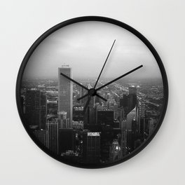 Chicago evening Wall Clock