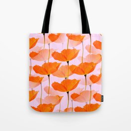 Orange Poppies On A Pink Background #decor #society6 #buyart Tote Bag