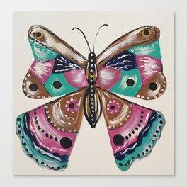 Butterfly Boho Bohemian Print 2 Canvas Print